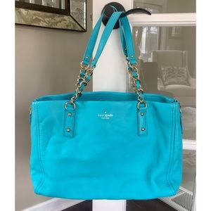 Kate Spade blue leather bag purse NWOT